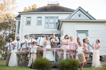 Now this is a wedding party!
