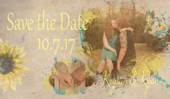 Water colors Save the Date