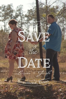 Fancy Font Save the Date